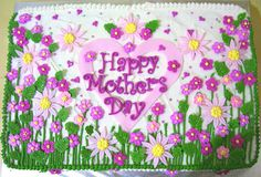 Mothersday cake    royal iced flowers with a garden theme by IcingDreams