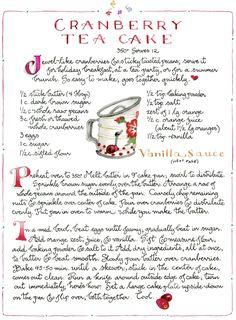 Cranberry tea cake Susan branch