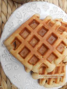 Vaníliás gluténmentes gofri recept édesítőszerrel Mai gluténmentes gofri receptünket könnyen és kedvező áron beszerezhető alapanyagokkal készítettük el. Az alap recept tejmentes és finomított cukrot sem tartalmaz. Sin Gluten, Gluten Free, Winter Food, Waffles, Breakfast Recipes, Herbalism, Paleo, Food And Drink, Sweets