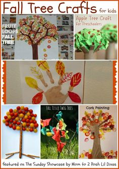 Mom to 2 Posh Lil Divas: Fall Tree Crafts for Kids {The Sunday Showcase 9/14/13