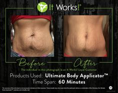 Get results in as little as 45 minutes!!!! Contact me, lechellewrapsforyou.itworks.com