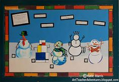 Love this idea! Match the snowman with the artist.