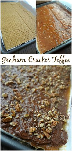 The Cooking Actress: Graham Cracker Toffee. An easy and addictive recipe for homemade toffee candy with dark chocolate! #sweets #snacks #desserts