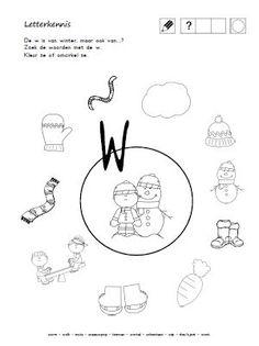 Winterwerkbladen: beginklank - waar hoor je de 'w' vooraan?