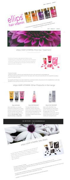 Website design for ellips HAIR TREATMENT South Africa. Hair Vitamins, Pink Hair, South Africa, Web Design, Website, Vitamins For Hair, Rosa Hair, Design Web, Website Designs