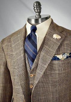 There exists no higher expression of the tailor's art than the Paul Stuart Custom Clothing Program. Der Gentleman, Gentleman Style, Sharp Dressed Man, Well Dressed Men, Dress Suits, Men Dress, Herren Style, Elegant Man, Dapper Men