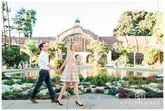 Botanical Gardens | Balboa Park Engagement Photo | San Diego Engagement Wedding Photographer | Kristine Marie Photography | © www.kristinemariephotography.com