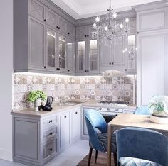 38 ideas bathroom tiny design kitchens for 2019 Kitchen Room Design, Best Kitchen Designs, Home Decor Kitchen, Kitchen Furniture, Kitchen Interior, Home Interior Design, Home Kitchens, Bathroom Wallpaper Contemporary, Classical Kitchen