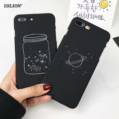 #DealOfTheDay #BestPrice USLION Cute Cartoon Wishing Bottle Planet Moon Phone Case For iPhone 7 6 6s Plus Fashion Starry Sky Hard PC Cases…