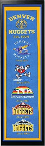 NBA Denver Nuggets Heritage Banner: The leader in Sports Licensed Décor. Featuring the highest quality wool banners, pennants and sports décor. Proudly display your favorite team with Winning Streak. Felt Banner, Nba Merchandise, Nba Store, Denver Nuggets, Online Shopping Stores, Boy Room, Applique, Flag, Kids Rugs