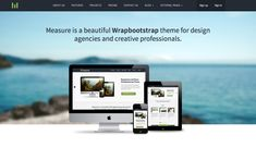 Measure - Responsive Business Theme Measure Responsive Theme is a clean and elegant template suitable for displaying your product or service. Bootstrap Template, Design Agency, Templates, Business, Beautiful, Stencils, Vorlage, Store, Business Illustration
