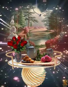 Good Morning Flowers Pictures, Good Morning Images, Flower Pictures, Good Morning Quotes, Waterfall Scenery, Good Night Greetings, Good Night Gif, Gif Photo, Gif Animé