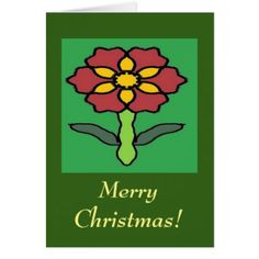 Pretty Poinsettia Card - christmas cards merry xmas diy cyo greetings