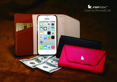 Luxury style Genuine leather case with wallet design for iPhone 5S — jisoncase.com