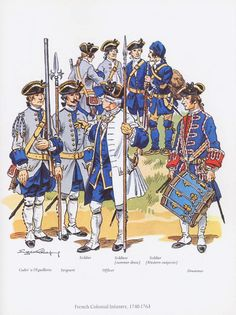 French Colonial Infantry,1740-1763.