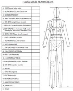 Costume designers can use this costume measurement form to ...