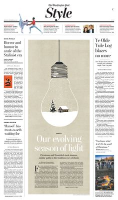 Washington Post print design by Chris Barber, via Behance / Newspaper / Editorial / Design