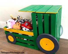 John Deere Bedroom Decor Best Of Tractor toy Box Cooper Wood Crate Furniture, Wood Crates, Furniture Ideas, John Deere Crafts, Girls Toy Box, Kids Toy Boxes, Tractor Crafts, Wooden Toy Boxes, Baby Boy Toys