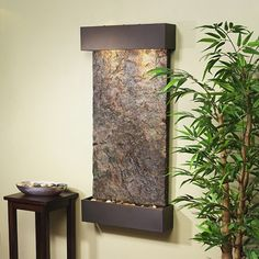 Add a fountain to massage room wall decor for soothing ambiance and white noise. Massage Room Decor, Massage Therapy Rooms, Indoor Wall Fountains, Indoor Fountain, Water Fountains, Fountain Ideas, Feng Shui, Reiki Room, Spa Rooms
