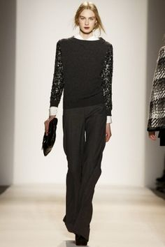 Rachel Zoe Ready To Wear Fall Winter 2013 New York-Subdued colors for a day at work.