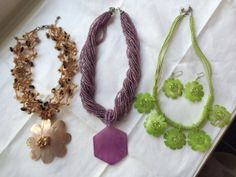 Mother of pearl hand made necklaces spring by Viktoriyasshop, $18.00