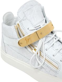 GIUSEPPE ZANOTTI DESIGN - SNEAKERS IN PELLE STAMPA COCCODRILLO -  LUISAVIAROMA - LUXURY SHOPPING WORLDWIDE SHIPPING 97fc57797cb