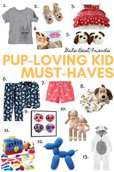 dog-loving kid must-haves. Mean Girls Christmas, Dog Christmas Gifts, Girl And Dog, Kids Swimwear, Dog Gifts, Fun To Be One, Dog Mom, Decoupage, Kids Rugs
