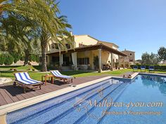 Ferienhaus Noblec für 8 Persoen auf Mallorca bei Selva mit großem Pool, Internet, Fitnessraum und Sauna