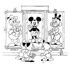 Disney Weirdness: Don Rosa Draws Mickey Mouse Family Coloring Pages, Cartoon Coloring Pages, Printable Coloring Pages, Adult Coloring Pages, Coloring Pages For Kids, Kids Coloring, Don Rosa, Dagobert Duck, Mickey Mouse Art