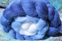 """Moon Light BFL Top from The Hippie Homemaker from the May """"Space!"""" Phat Fiber Sampler Box. Giveaway at phatfiber.blogspot.com"""