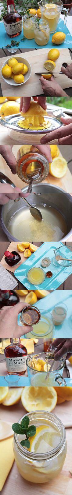 Une délicieuse #recette de #limonade pétillante au #bourbon pour célébrer l'arrivée de la belle saison! #cocktail
