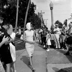 First lady Jacqueline Kennedy leaves St. Edward's Catholic Church in Palm Beach after attending Good Friday services, March 31, 1961. (AP Photo)