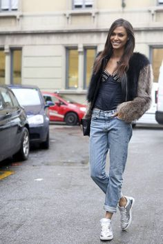 Model Joan Smalls #streetstyle #fashion