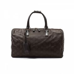 445232ac481 LXRandCo guarantees the authenticity of this vintage Gucci Boston Bag  travel bag. Crafted in gg nylon