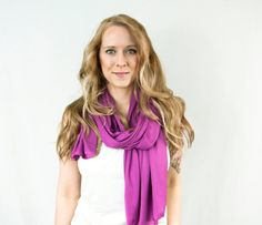Radiant Orchid Scarf Lightweight Spring Magenta by ForgottenCotton, $22.00 summer wrap beach head fashion trend style pantone