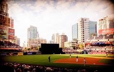 City Views on a beautiful day watching a Padres baseball game at Petco Park #sandiego #padres #petcopark
