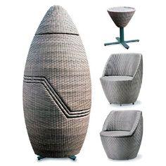 muebles para exterior apilables