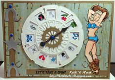 Kat's Tales of Stamping: Bombshell Stamps Bombshells, Stamping, Clock, Watch, Stamps, Clocks, Stamp Sets, Printing, Card Making