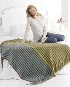 Warm Stripes Crochet Afghan - interesting idea for colors