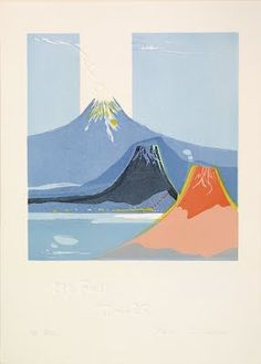 Mt. Fuji Time 25  by Rikio Takahashi, 1991 - Japanese Color Woodblock Print - The Lavenberg Collection of Japanese Prints