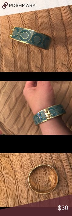 Coach bangle Coach teal bangle Coach Jewelry Bracelets