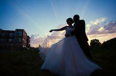 Sunset.  #greenwood #wedding Lily and Tod 8.2.14 #seattle #urbanlightstudios #bride