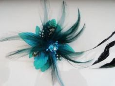 Turquoise fascinator/ brooch