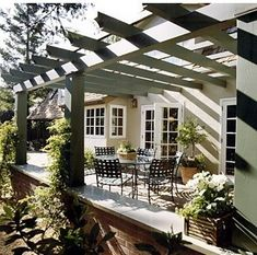 oooh, i could add a pergola off the dining/living room! or maybe the master?