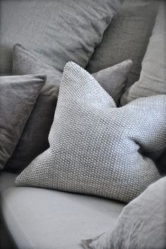 Nubby-knit Pillows at FABLE + FLAME...