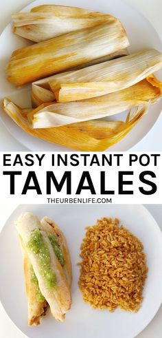 Here's how to cook homemade tamales in the pressure cooker! Quick and easy. Perfect for dinner and holidays Dairy Free Eggs, Dairy Free Recipes, Healthy Recipes, Delicious Recipes, Vegetarian Recipes, Amazing Recipes, Dairy Free Lunches, Gluten Free, Lactose Free
