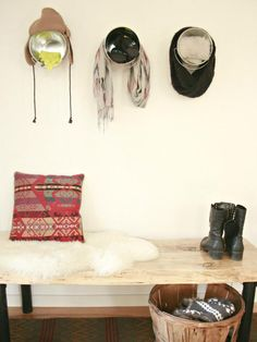 Creative ways to store winter gear --> http://www.hgtv.com/decorating-basics/3-creative-ways-to-store-winter-gear/index.html?soc=pinterest