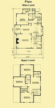 Bungalow Home Plans, Arts & Crafts House Plans, Craftsman House Plans, Cottage H