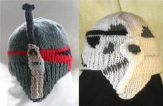 Hand knitted Boba Fett and Stormtooper baby hats by TeabeaKnits Boba Fett, For Stars, Business Design, Baby Wearing, Baby Hats, Knitting Projects, 6 Years, Hand Knitting, Cute Babies