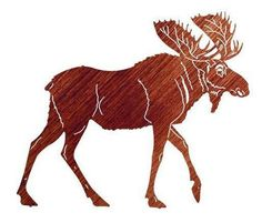 Stand Alone Moose Metal Wall Art